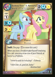 My Little Pony Rainbow Dash & Fluttershy, Words of Encouragement Defenders of Equestria CCG Card