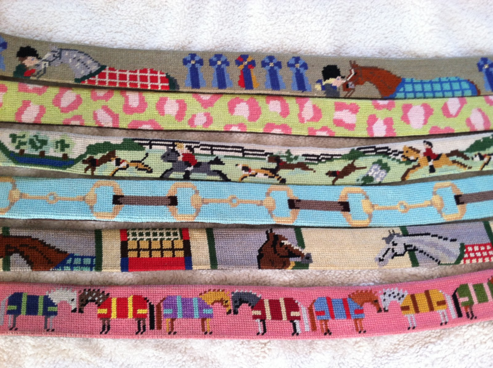 Horse Country Chic Primer On Needlepoint Belts
