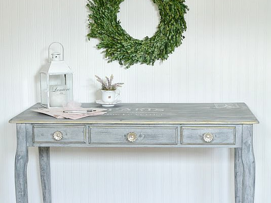 Queen Anne Desk Makeover With Parisian Flair