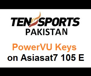 Ten Sports HD Pakistan PowerVU Keys on Asiasat7 105 E