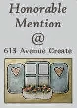 I got an honourable mention over at 613 Avenue Create