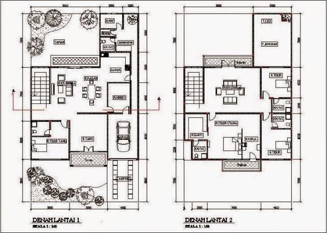 Image Result For Denah Rumah Lantai Type