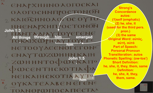 Strong's Concordance autos: (1) self (emphatic) (2) he, she, it (used for the third pers. pron.) (3) the same Original Word: αὐτός, αὐτή, αὐτό