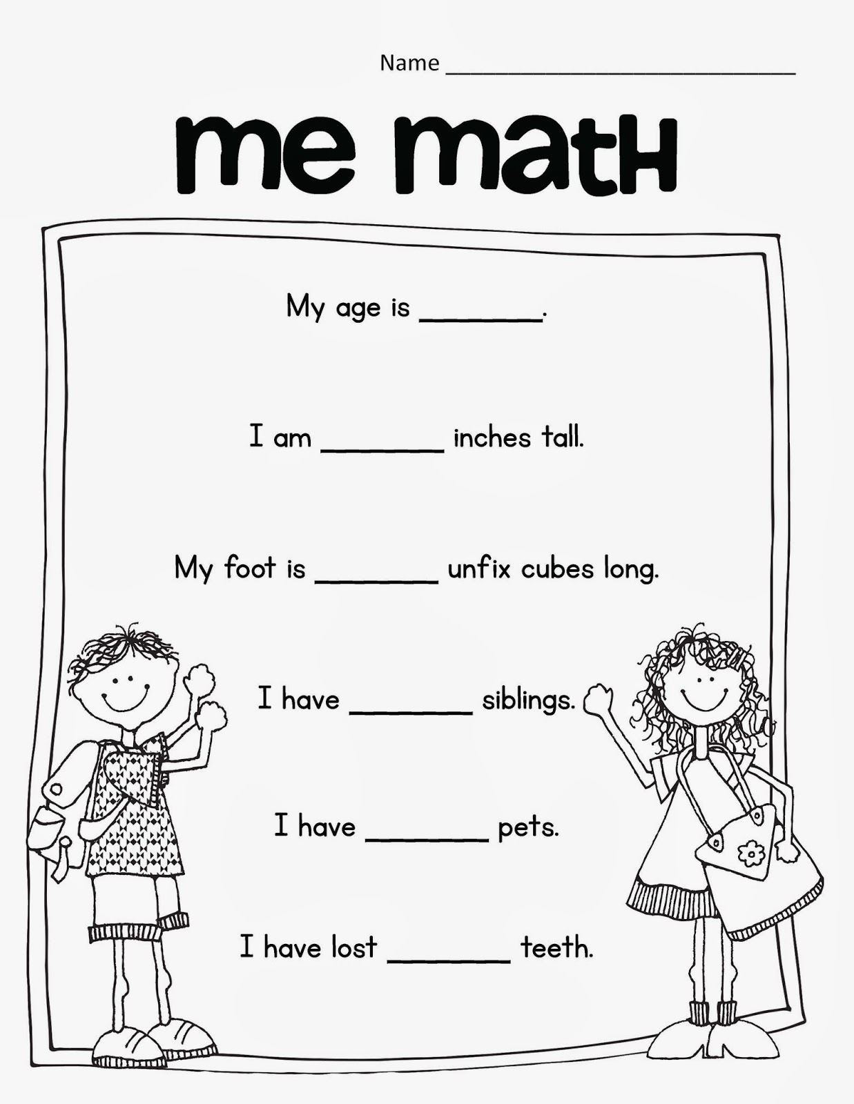The Research Based Classroom First Grade Me Math