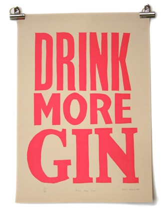 Robert Rubbish Gin Poster from Legun