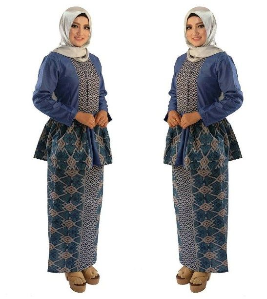 29 model baju batik setelan wanita kombinasi rok panjang modern