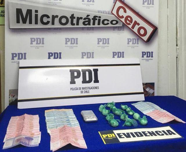Microtraficante detenido en Frutillar, Evidencias