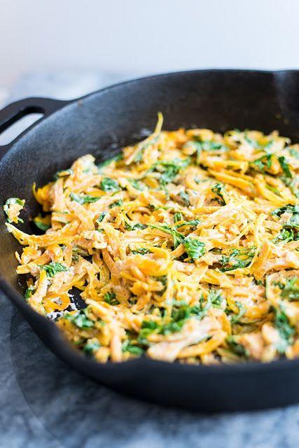creamy garlic butternut squash noodles