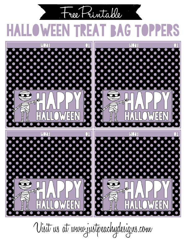 Free Halloween Treat Bag Toppers