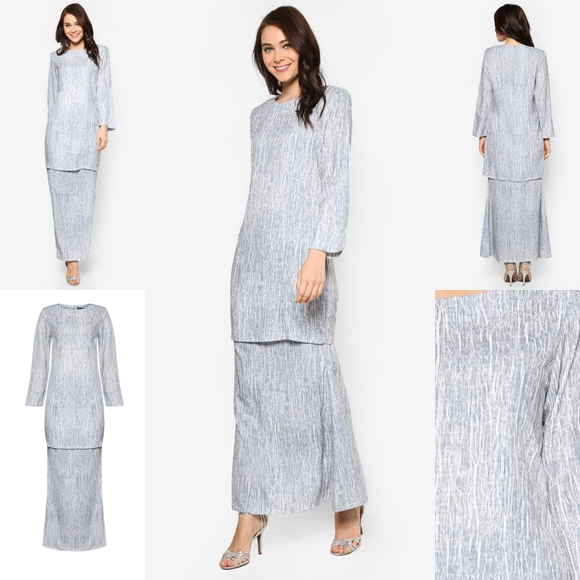 Fesyen Trend Terkini November 2016 Baju Kurung Moden Yazmein Grey By Butik Sireh Pinang