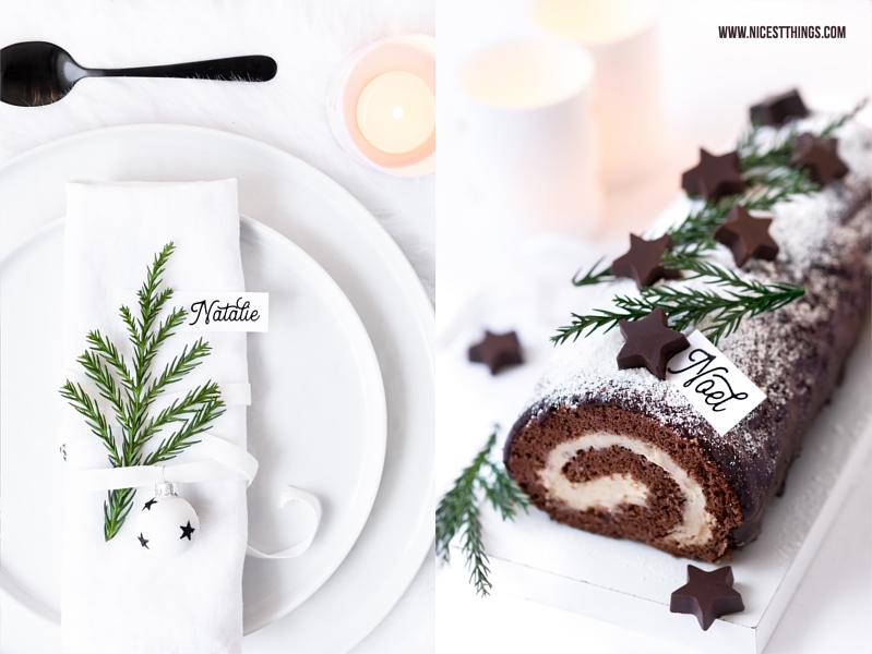 Bûche de Noël mit Maronencreme Rezept