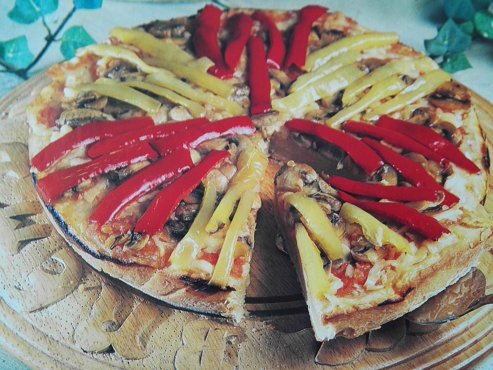Biberli ve mantarlı pizza Tarifi