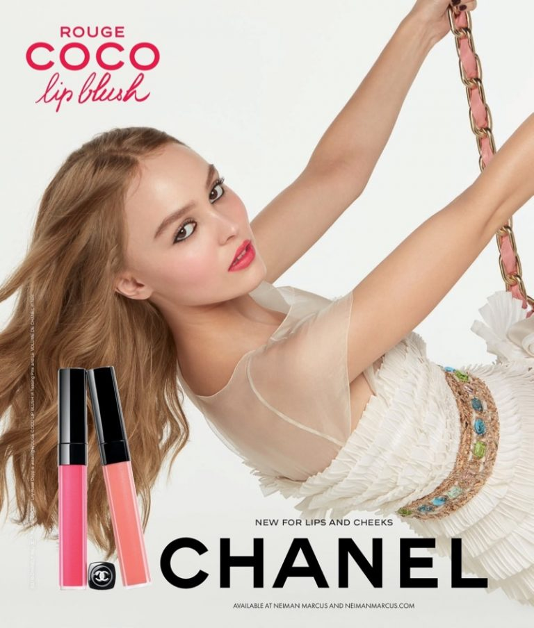 Lily Rose Depp stars in the Chanel Coco Rouge Lip Blush Campaign