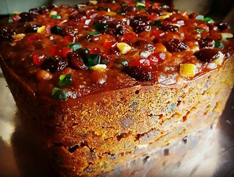 resepi kek buah madu moist , honey fruit cake recipe