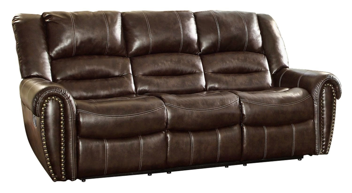 The best reclining sofas ratings reviews bernhardt weston for Sectional sofa with double recliner