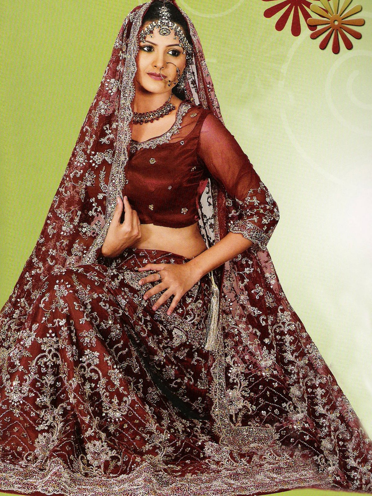 mehndi designs 2012 wedding dresses