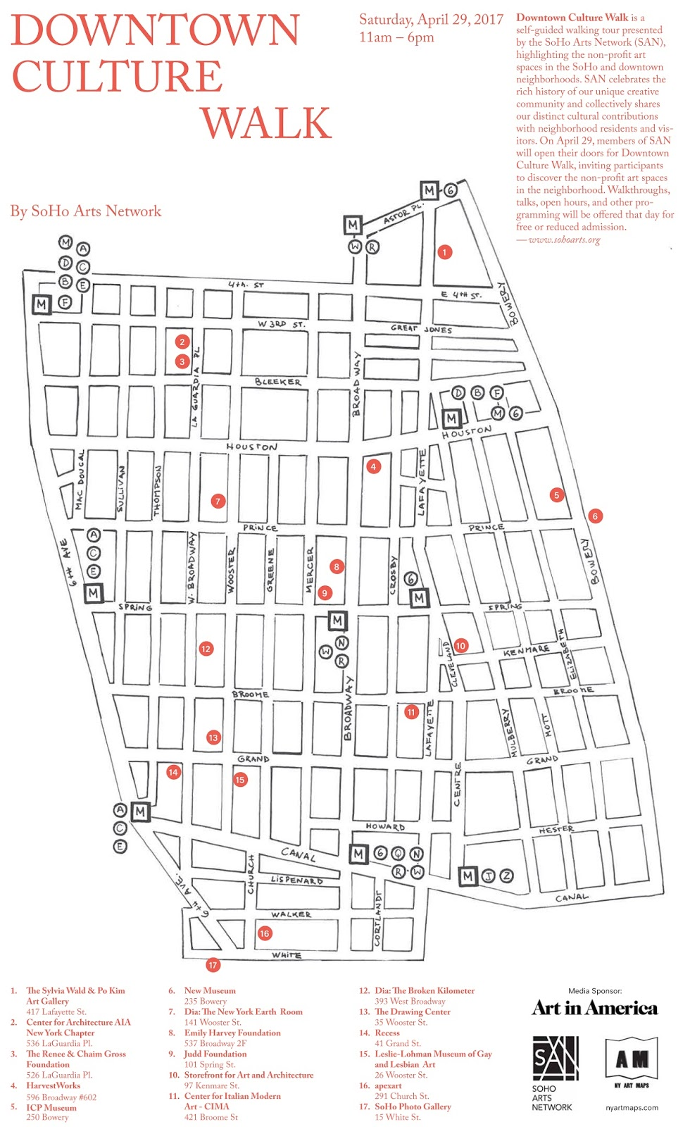 downtown culture walk map