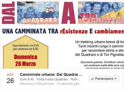 Tra il Quadraro e Torpignattara per il Centro Italia