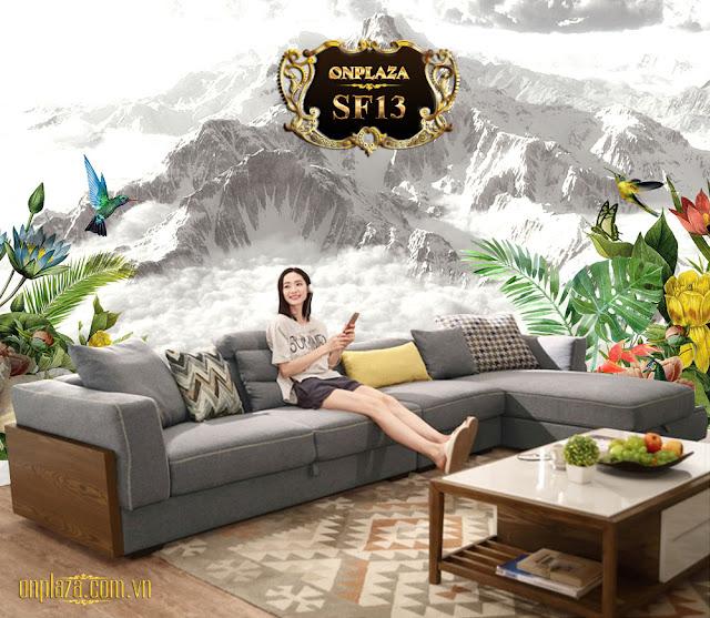 Ghế sofa bọc nỉ SF13