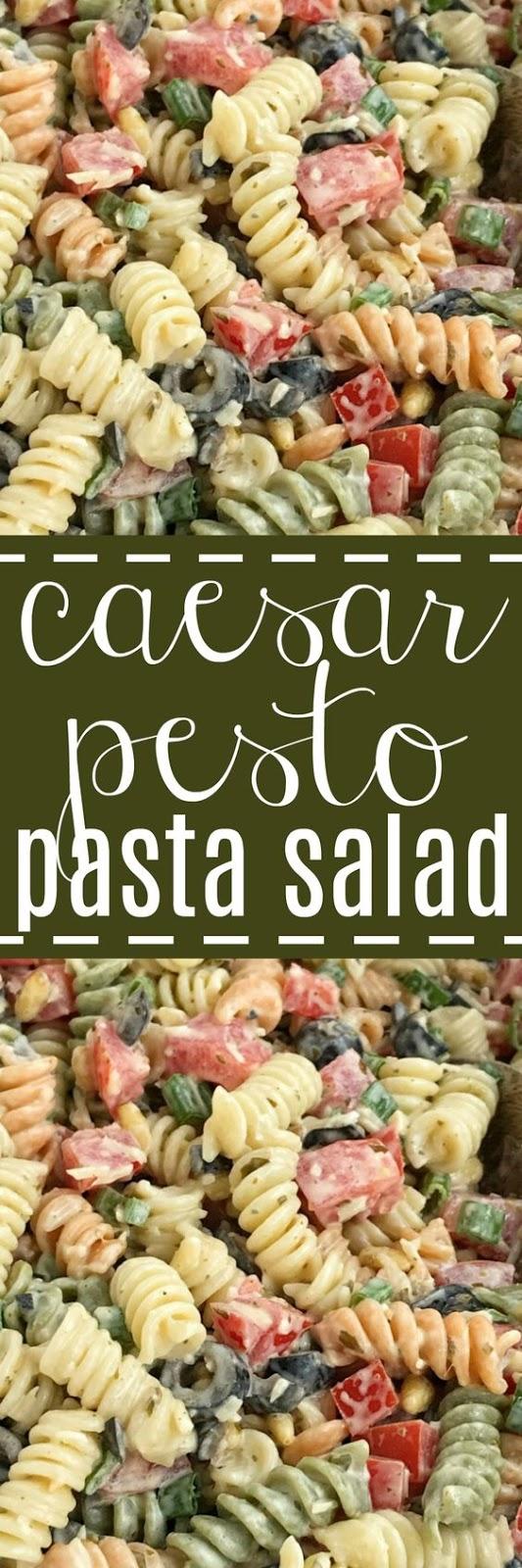 Caesar Pesto Pasta Salad