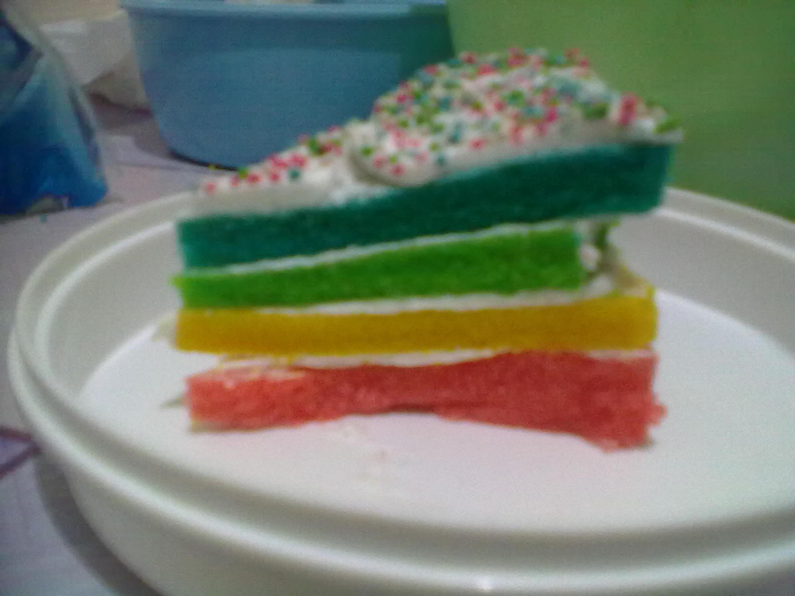 90041fbceca349 Foto aneka rainbow cake