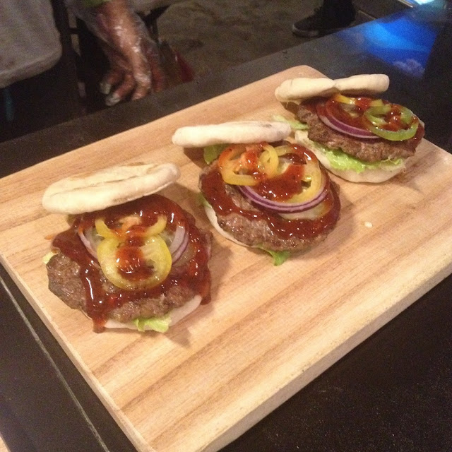 Greek pita burgers at Wasted Chef