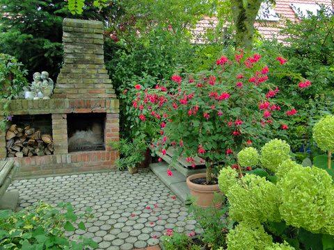Ziegelsteine für den Garten