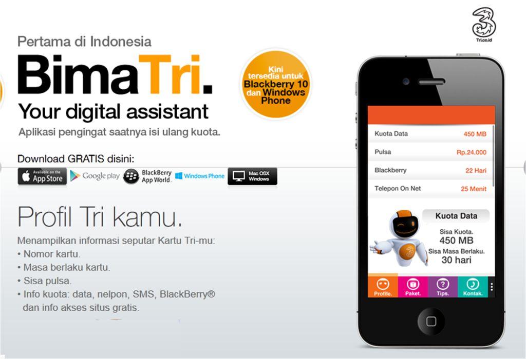 Kuota Gratis Tri (3) Dengan Kuota 100+ Gb Terbaru 100% Work