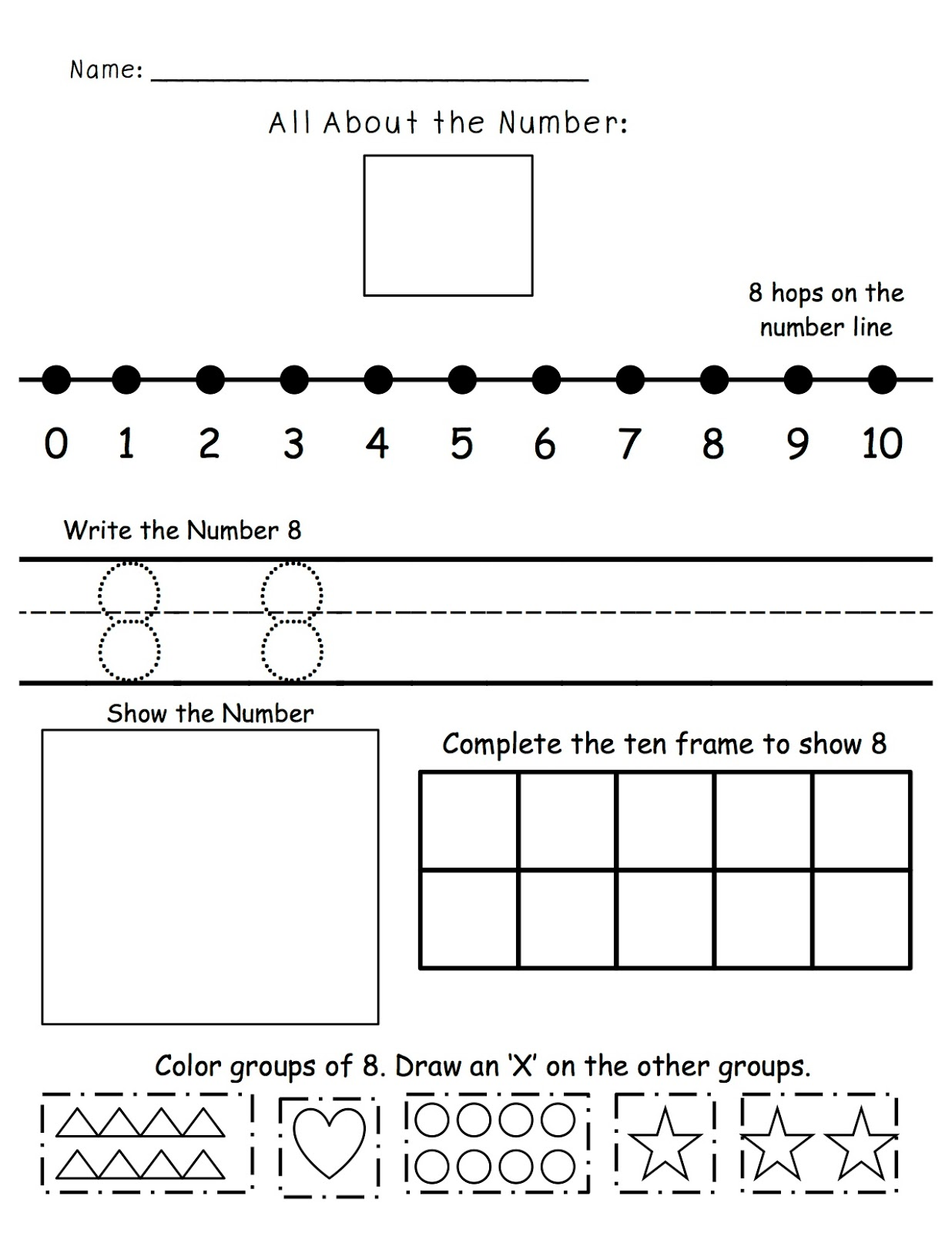 A Spoonful Of Learning Numbers Numbers Numbers Amp Freebies