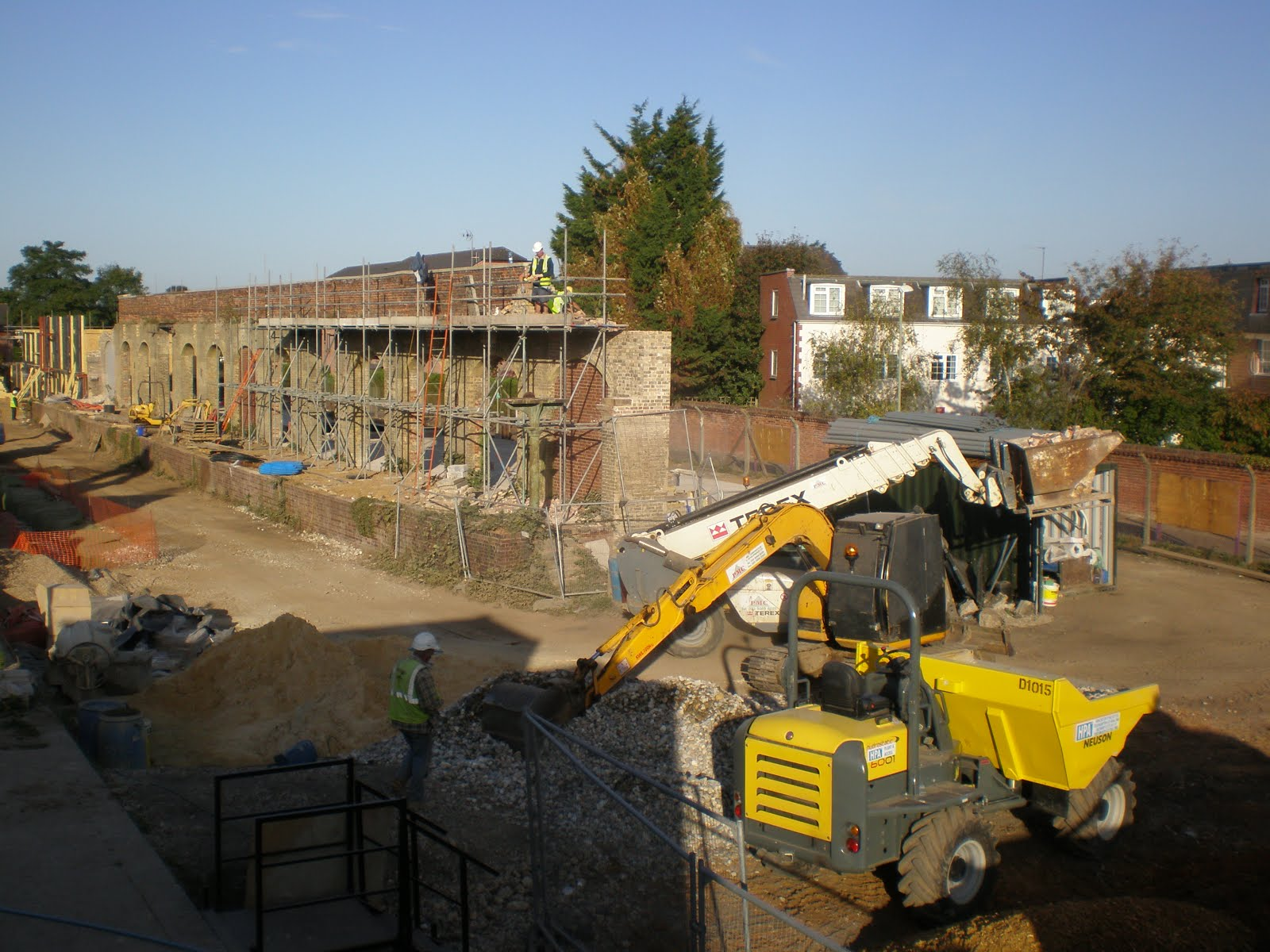 Gosport station during renovation