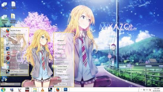 Theme Window 7, 8/,8.1 Shigatsu Wa Kimi No Uso [Miyazono Kaori] 1