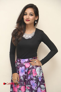 Actress Sana Pictures in Floral Skirt at Neerajanam Audio Launch  0014.JPG