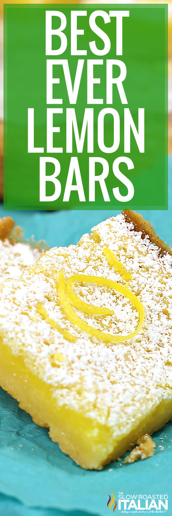 titled photo collage of lemon bars