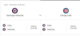 Nationals vs Cubs