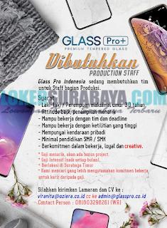 Lowongan Kerja di Glass Pro Indonesia Surabaya Terbaru Mei 2019