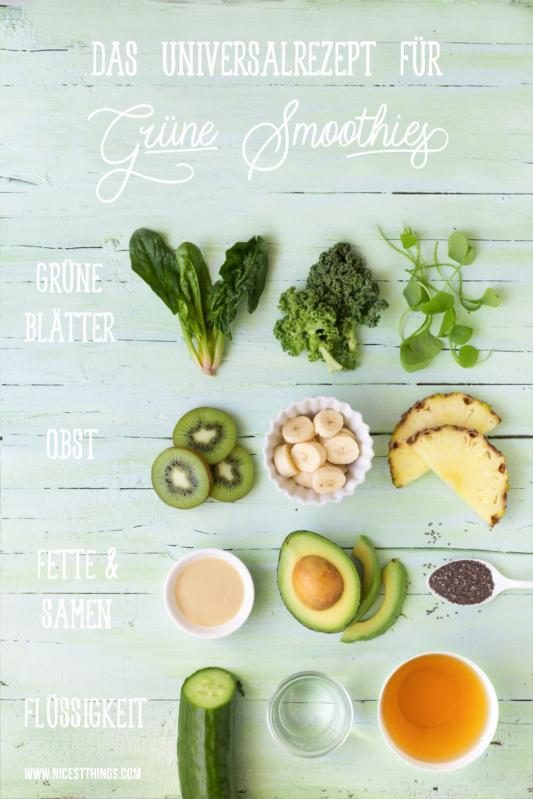 Universalrezept für grüne Smoothies