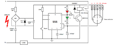 220v AC timer using IC 555 ~ Simple Projects
