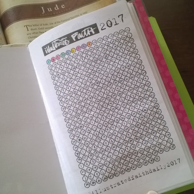 Illustrated Faith's Habit Tracker for 2017.