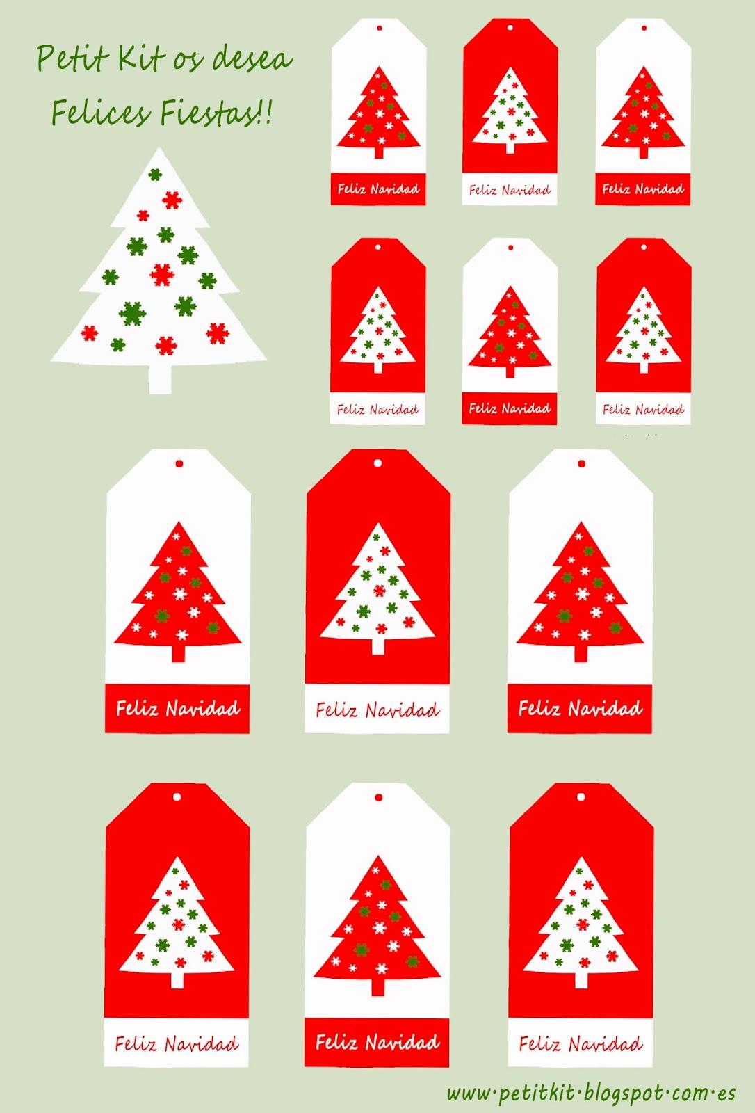 Plantilla etiquetas navideñas