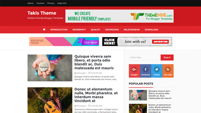 Takis - High CTR, SEO Friendly and Responsive Blogger Templates ...