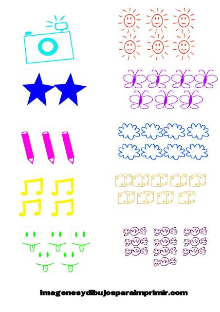 memorama de números para niños para imprimir