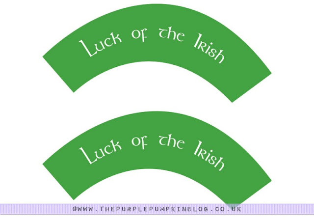 Luck of the Irish; St. Patrick's Day #Cupcake #Wrappers. Free Printable!