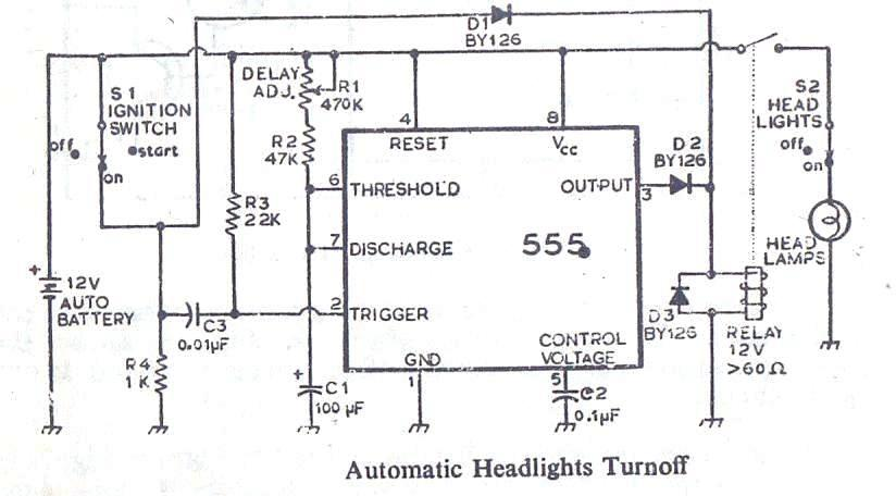 automatic parking light switch circuit