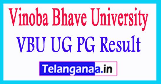 VBU UG PG Result 2018 Vinoba Bhave University Results 2018