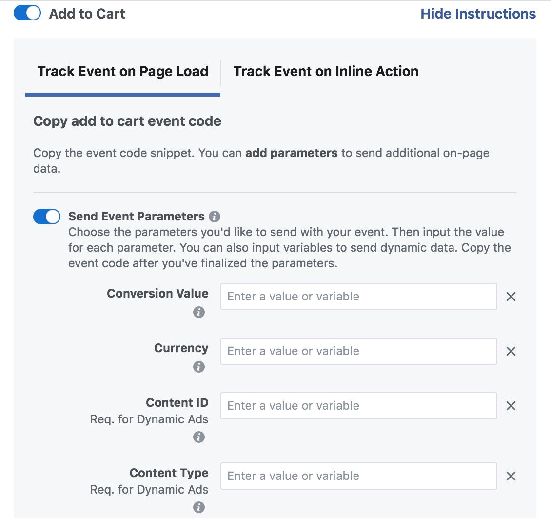 cai dat facebook event bang google tag manager