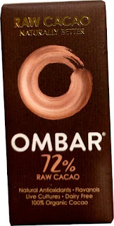 OMBAR raw cacao organic 72% dark chocolate bar