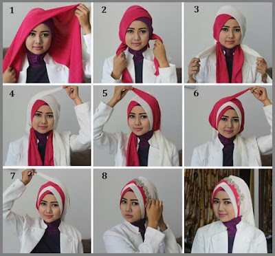 Tutorial Hijab atau Jilbab Wisuda untuk Wajah atau Muka Bulat