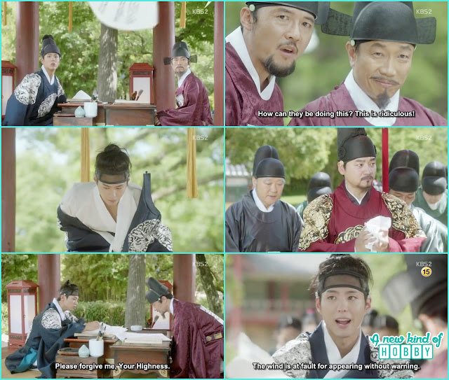 prince disguise himself as he is studying hard  - Love in the Moonlight - Episode 1 Review