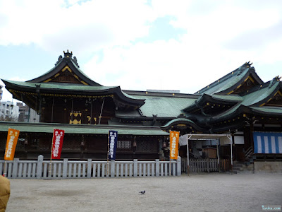 大阪天満宮本殿と登龍門