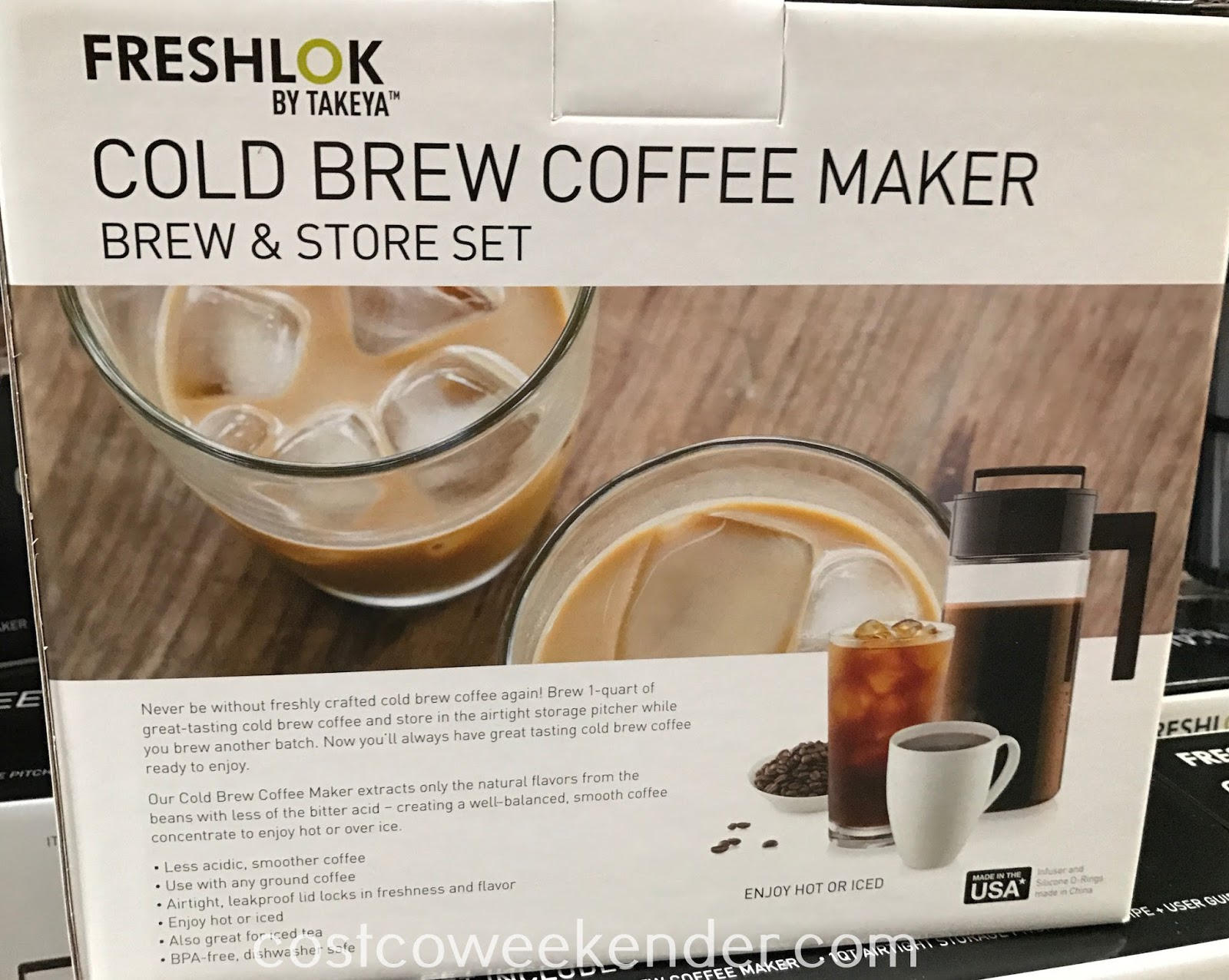 Takeya Cold Brew Coffee Maker Brew and Store Set: great for hot/cold coffee or tea